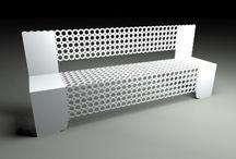 Geometric patterns on seating