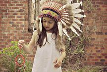 Indian Headdress  / Little girl in Indian Headdress