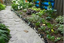 iYard Bottlin' It / Things to do in the yard with recycled bottles like pathways and hill holding and decorating and on and on we go and where we stop nobody knows!