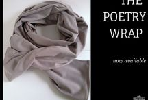 Poetry Wraps / Our all-season Poetry Wrap is made from sustainable double knit bamboo.  It's warm and cozy in the fall and winter and cool and wicking in the spring and summer.  It can be worn as a wrap, a scarf, a shawl or head covering, a belted vest or as a sarong.