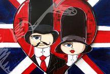 British Mood / Colección de Obra pictórica realizada por el artista plástico Andrés Fernández