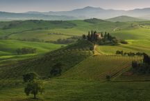 Tuscany landscapes / Beauty and charm of Tuscany in pictures
