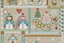 Рождественская вышивка.