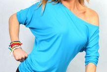Kvinder T-shirt til fitness, danse og zumba