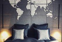 """Map monde en """"String-art"""" en tête de lit by DIMENSYON / Map monde en """"String-art"""" en tête de lit by DIMENSYON"""