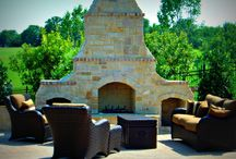 Custom Fireplaces by Puryear Custom Pools / Fireplace examples by Award Winning Dallas Fort Worth Swimming Pool Builder Puryear Custom Pools http://www.puryearpools.com