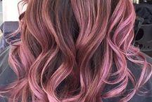 hair golden rose