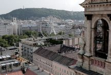 Budapest from the tower of Saint Stephen Basilica