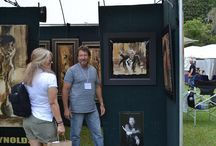 Artists / Artists and their art work at the Mandarin Art Festival from various years in Jacksonville, Florida
