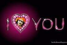 Art Work - I Love You / Beautifull wallpapers of I Love You maid by ISKCON Desire Tree