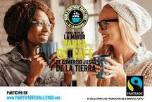 World Fairtrade Challenge / Forma parte de la mayor pausa de café de Comercio Justo de la tierra. Únete a millones de amantes del café en el World Fairtrade Challenge del 13 al 15 de mayo de 2016 y apoya a los productores de café en su lucha contra el cambio climático.  Cuanto más bebamos, mejor será para los productores para recibir un precio justo, podrán trabajar hacia la lucha contra el cambio climático y tener la oportunidad de seguir cultivando un gran café para tu taza.