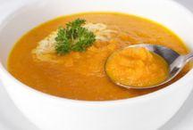 wortelsoep met zoete aardappel