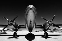 Vintage airplanes and airports