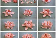 kwiaty z papieru / handmade