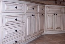 Faux finished cabinets / Faux finished cabinet