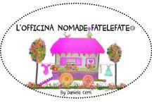 NUOVO LOGO L'OFFICINA NOMADE FATELEFATE By Daniela Cerri / Prototipi e prodotti editoriali