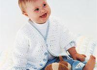 crochet....baby sweaters etc.