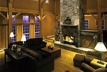 Timber! Rustic Interior Design and Cabins / Timber mantels, rustic cabins, and mountain homes.