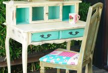 Painted Furniture: Desks & Vanities