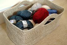 Crochet, Puntos con dos agujas