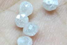 NATURAL WHITE LOOSE DIAMOND FACETED BEADS