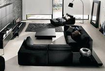 Salon w czerni i bieli / Balck & white living room / Czerń i biel idealnie do siebie pasują - również we wnętrzach! Salony utrzymane w tej kolorystyce są szalenie eleganckie, dają też duże możliwości wprowadzania innych barw, któe stanowią piękny, wyróżniający akcent kolorystyczny.