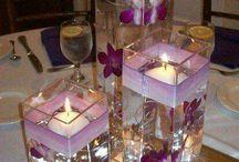 Wedding decor - Floating candles