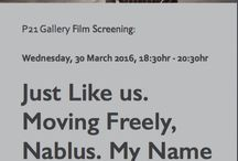 Just Like us.  Moving Freely, Nablus. My Name is Saleh. / Film Screening followed by Q&A Just Like us.  Moving Freely, Nablus. My Name is Saleh. Three films about education and children's lives in Palestine. Wednesday, 30 March 2016, 18:30hr - 20:30hr. RSVP: https://podio.com/webforms/15302605/1025653 Please see the attached invite for more details. We very much look forward to seeing you on the evening of the 30th.