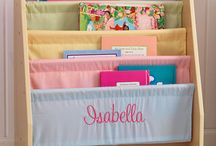 Handpainted Personalized Book Caddy