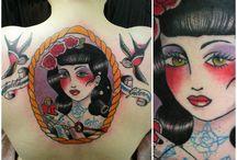 Back tattoos by Tereza / tattoo, art, colour