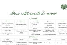 """Menù / menu di Francesca Oggionni per """"ricomincio da quattro"""""""
