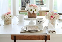 DINING ROOM/TABLESCAPES / This board contains all the inspiration you'd need for your dining room, including beautiful tablescapes!