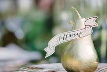 Wedding place settings