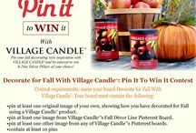 PIN IT TO WIN IT CONTEST / HAVE FUN, ENTER OUR CONTEST TO WIN FREE CANDLES. CONTEST IS FROM 11/1/2013 AND ENDS AT 11:59PM 11/14/2013 EST. / by Village Candle