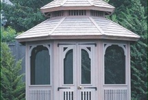 Walpole Outdoors Gazebos / If you've dreamed of creating a garden oasis for entertaining or relaxing close to home, then Walpole has the gazebo that suits your lifestyle. Handcrafted from Western Red Cedar, Walpole gazebos feature classic designs and cabinet joinery. / by Walpole Outdoors
