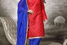 catalog 2430 Casual Wear Chanderi Churidar Suit / Buy this Designer Casual Wear Chanderi Churidar Suit. We sale all type of Indian ethnic wear like Salwar Kameez, Anarkali Suit, Lehenga choli, Kurtis, Saree, etc.