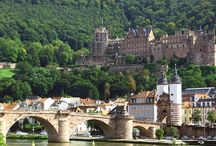 Heidelberg, Germany Castle / Heidelberg, Germany Castle on of the hill and the city bridge.