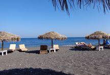 Perissa, Thira - Santorini - Greece / Traveling in Cyclades