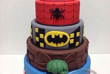 Torta di supereroi / Torta con super heroes / Superhero cake
