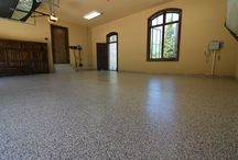 Garage Flooring 101 / Garage flooring options & ideas that can turn your garage into an extension of your living area.