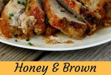oven roasted pork loin honey