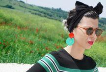 geometrical / handmade geometrical earrings