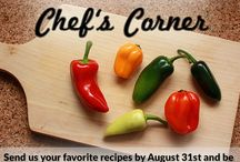 Chef's Corner / Enjoy a meal with us, as each month we'll be selecting a new recipe to feature on our blog, The Reader's Edge! Submit your recipe, and you can win a $500 Restaurant.com Gift Card along with a featured blog post!.