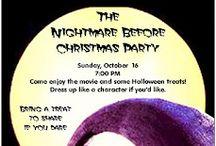 Nightmare before christmas Movie night