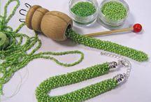 Perlen stricken und häkeln
