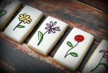 μπισκότα με λουλούδια