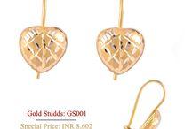 Gold Earrings / #Gold #Earrings #Studds #Sui Dhaga