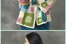 Crochet granny square Jacket/Tops