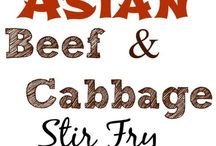 Asian Beef And Cabbage