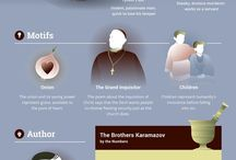 Russian literature infographics